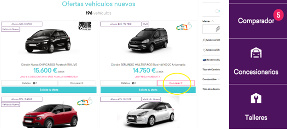 comparador de coches