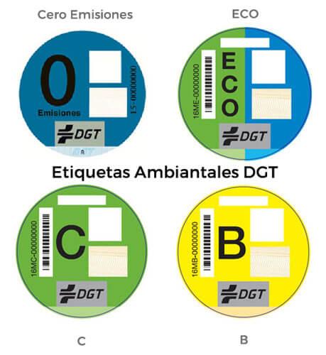 etiquetas coches